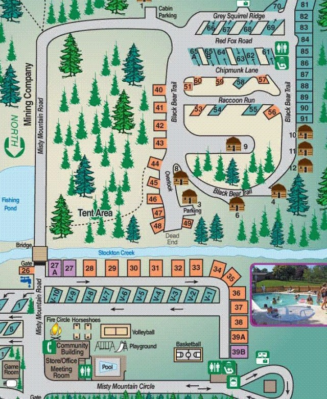 Map of the Camp Resort.